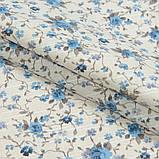 Комплект декоративних Штор в дитячу Іспанія ARI Троянди дрібні Блакитний, арт. MG-164718, 170 * 135 см (2 шт.), фото 2