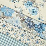 Комплект декоративних Штор в дитячу Іспанія ARI Троянди дрібні Блакитний, арт. MG-164718, 170 * 135 см (2 шт.), фото 3