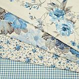 Комплект декоративних Штор в дитячу Іспанія ARI Троянди дрібні Блакитний, арт. MG-164718, 170 * 135 см (2 шт.), фото 5