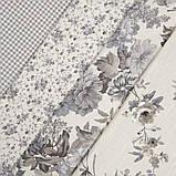 Комплект декоративних Штор в дитячу Іспанія ARI Троянди дрібні Сірий, арт. MG-164720, 170 * 135 см (2 шт.), фото 5