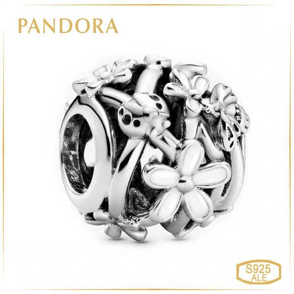 Пандора Ажурная подвеска Белая Маргаритка Pandora 798772C01