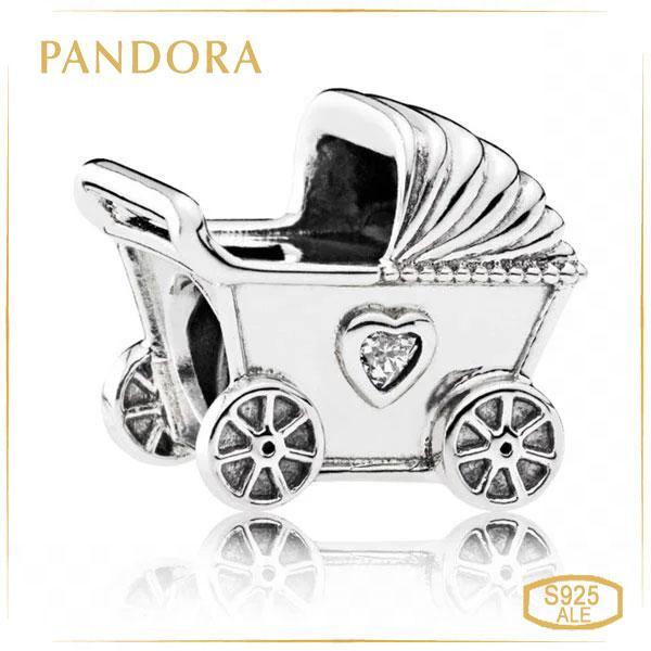 Пандора Шарм из серебра Коляска Pandora 792102CZ