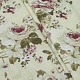Штори в стилі Прованс Айрет Великі квіти Молочний (MG-SHT-140357), 170 * 135 см (2 шт.), фото 2