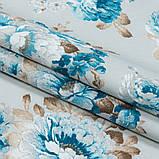 Шторы в стиле Прованс АКИЛ Синий Крупные цветы (MG-SHT-86052), 170*135 см (2 шт.), фото 2