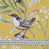 Штори в стилі Прованс Пташиний Світ Жовтий (MG-SHT-167587), 170 * 135 см (2 шт.), фото 2