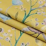 Штори в стилі Прованс Пташиний Світ Жовтий (MG-SHT-167587), 170 * 135 см (2 шт.), фото 3