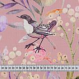 Шторы в стиле Прованс Птичий Мир Розовый (MG-SHT-167588), 170*135 см (2 шт.), фото 2