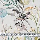 Шторы в стиле Прованс Птичий Мир Зеленый (MG-SHT-167591), 170*135 см (2 шт.), фото 2