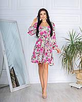 Платье женское летнее цветастое 661 (42-44; 46-48) СП, фото 1