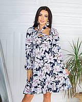 Сукня жіноча літнє квітчасте 661 (42-44; 46-48) СП, фото 1
