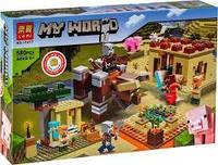 Конструктор лего Майнкрафт Minecraft Патруль разбойников, 580 дет