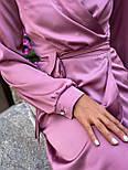 Женское платье на запах шелковое (в расцветках), фото 2