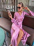 Женское платье на запах шелковое (в расцветках), фото 7