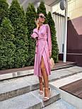 Женское платье на запах шелковое (в расцветках), фото 4