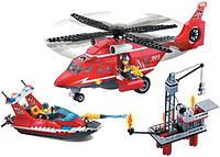 Конструктор Brick Enlighten серия Пожарная тревога 905 (Морские спасатели)