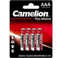 Батарейки Camelion LR03-BP4 Plus Alkaline 1x4шт AAA