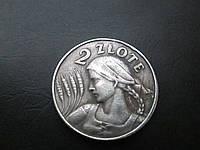 1 злотых 1924 г. Польша, копия в серебре №532 копия