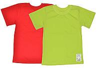 Детская футболка однотонная для девочки без рисунка