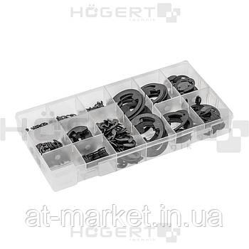 Набор стопорных Е-образных колец, 300 шт. HOEGERT HT8G515