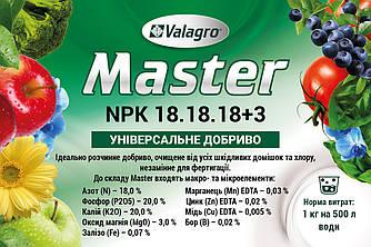 Минеральное удобрение MASTER NPK 18-18-18 Valagro 1 кг