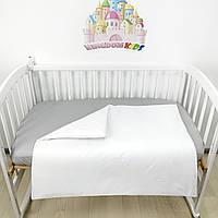 Хлопковое детское одеяльце-вкладыш демисезонное 100*80см