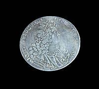 Талер 1705 г. REICHS FVES losephvs vidilynam adorare me 1737, копия в серебре №538 копия