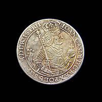 Дввойной талер 1650 г.,Гданьск, Ян Казимир, копия серебряной монеты №543 копия, фото 1