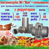 """Електром'ясорубка + Соковижималка з редуктором """"Мрія"""" ЕМ-1C, продуктивність - до 100 кг/год"""