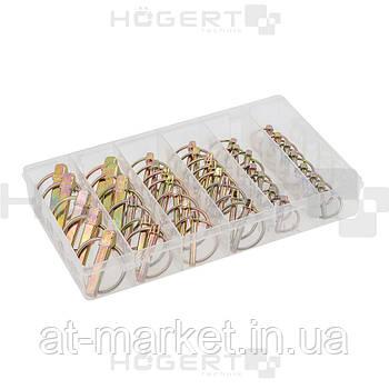 Набор шплинтов с кольцом, 50 шт. HOEGERT HT8G506