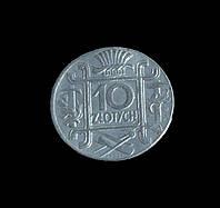 10 злотых 1938г Польша Речь Посполитая копия в серебре №549 копия