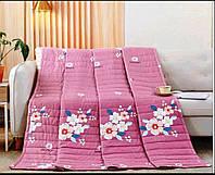 Двоспальна стьобана легка ковдра (рожевий)