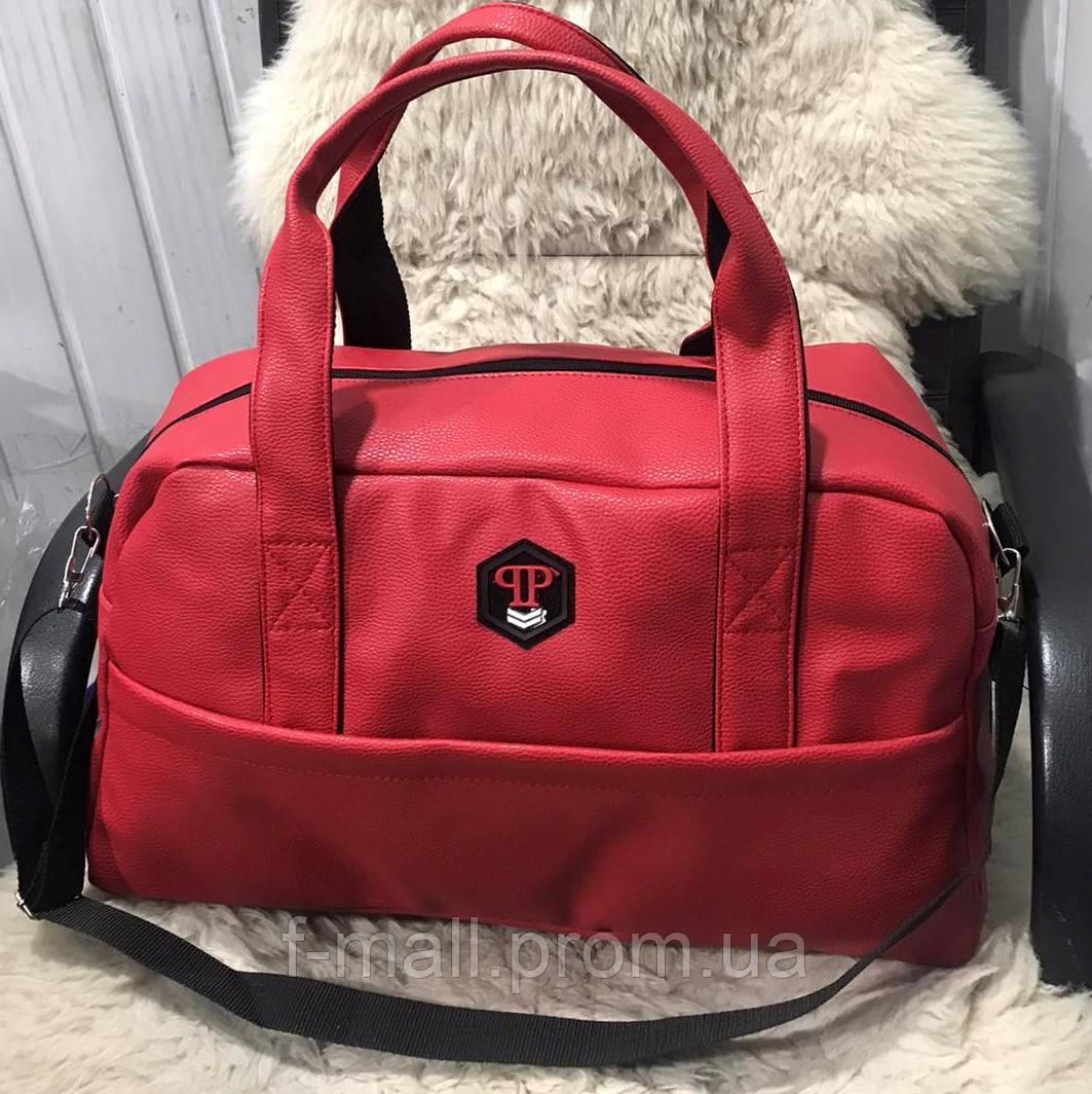 Спортивная сумка мужская женская Reebok дорожная сумка кожзам