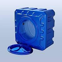 Пластиковые емкости для воды 200 литров квадратные двухслойные и однослойные. Бак для воды. Емкость для воды.