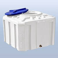 Пластиковые емкости для воды 300 литров квадратные двухслойные и однослойные. Бак для воды 300 литров.