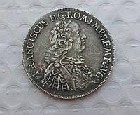 Талер 1756 г Франциск король Римской империи копия серебряной монеты №559 копия