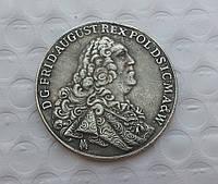 Талер 1763г Польша Саксония Август III Толстый копия в серебре №561 копия
