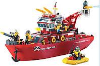 Конструктор Brick Enlighten серия Пожарная тревога 909 (Пожарный корабль)