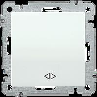 Выключатель двухполюсный одноклавишный серия BOLERO (белый) ВК01-06-0-ББ IEK