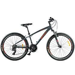 """Велосипед Spirit Spark 6.0 26"""", рама M, темно-сірий/матовий, 2021"""