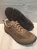 Кроссовки из натуральной кожи со вставкой из сетки, фото 3
