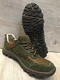 Кроссовки из натуральной кожи со вставкой из сетки, фото 6