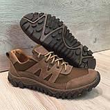 Кроссовки из натуральной кожи со вставкой из сетки, фото 7