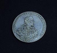 2/3 Тталера (1 гюльден) Германия Кристиан Гюнтер III  в серебре №566 копия