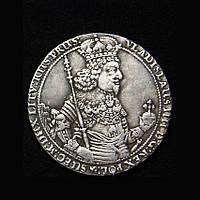 10 дукатов 1644г Польша Владислав IV Ваза копия серебряной монеты №567 копия, фото 1