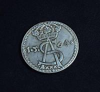 Шостак 1564г Польша Зигмунд Август копия серебряной монеты №571 копия