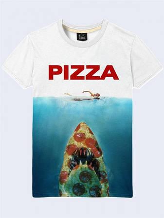 Мужская Футболка Пицца в Море