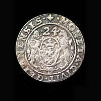 Орт (1/4 талера) 1624г Данциг/Гданьск Сигизмунд III Ваза копия в серебре №573 копия, фото 1