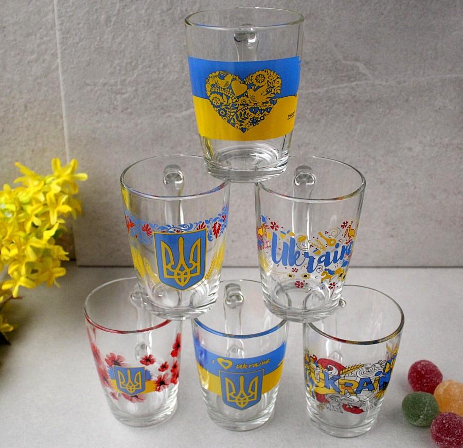 Патриотическая чайная кружка ОСЗ Украина 330 мл (8143)