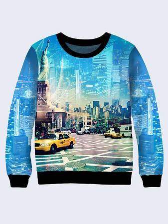 Чоловічий Світшот місто Нью-Йорк