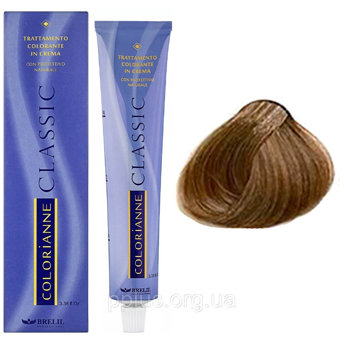 Фарба для волосся 8.03 Brelil Colorianne Classic атуральный шовковий світлий блондин 100 мл
